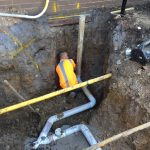 Plumber setting drains EXP Berwick