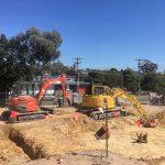Plumber digging drains Melbourne